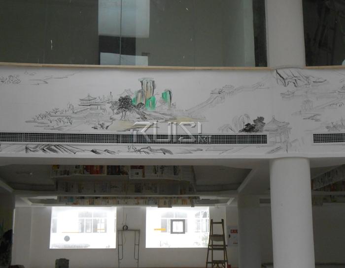 手绘墙现场绘制
