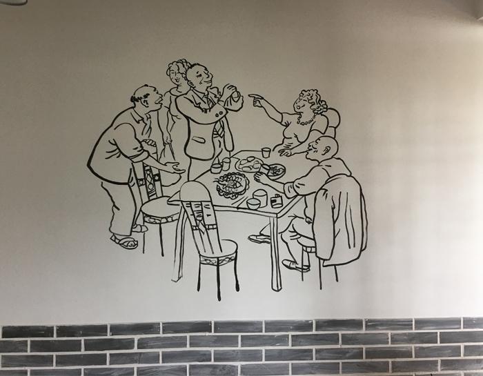 江湖演义-餐厅手绘墙