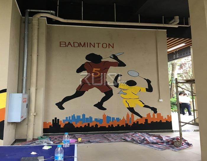 健身房手绘墙