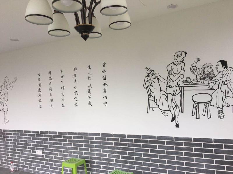 现在越来越多的人喜欢手绘墙,它到底有些什么优点呢?